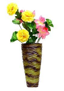 Metallic Cone Shaped Vase