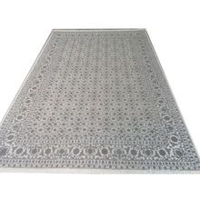 Hand Knotted White Color Hairati Wool Viscose Carpet