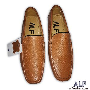 Mens Brown Leather Loafer shoes 01
