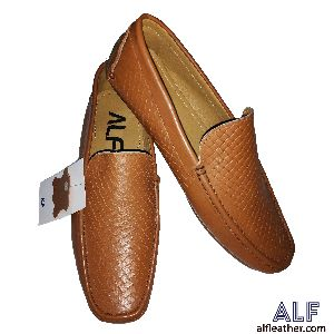 Mens Brown Leather Loafer Shoes 02