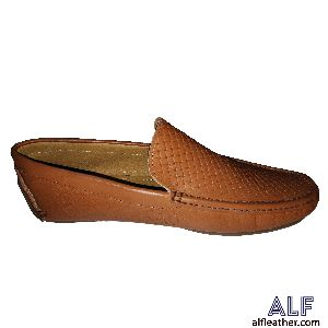 Mens Brown Leather Loafer Shoes 03