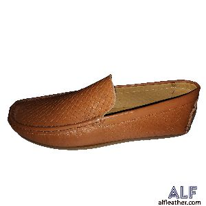 Mens Brown Leather Loafer Shoes 04