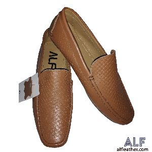 Mens Brown Leather Loafer Shoes 06