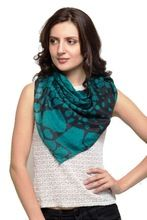 Pure Silk Green Square Scarf