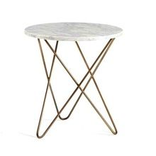 Gold Intersect V Shape Side Table For Hotel