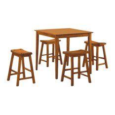 Homelegance Saddleback 3-piece Counter Dining Room Set