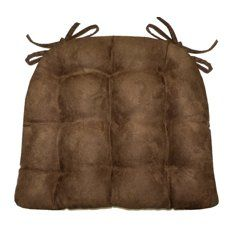 Micro-suede Coffee Bean Brown Dining Chair Pad