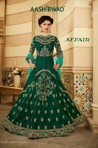 Ashirwad Silk Embroidered Work Anarkali Suit