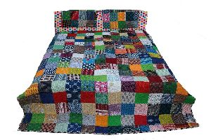 Indian Ethnic Printed Patchwork Quilt
