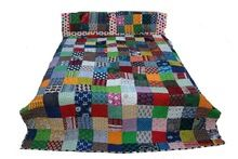 Patchwork Padded Quilts And Bedcover