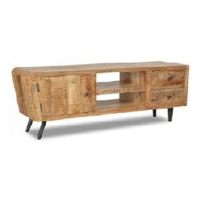 Industrial Wooden Tv Unit