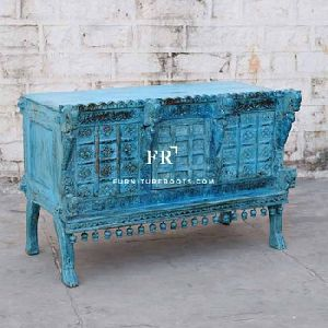 Blue Handcarved Console Furniture