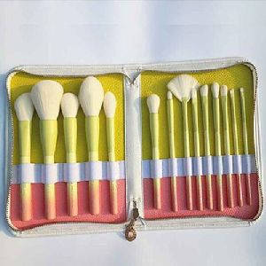 Beauty color synthetic hair huge makeup brush set