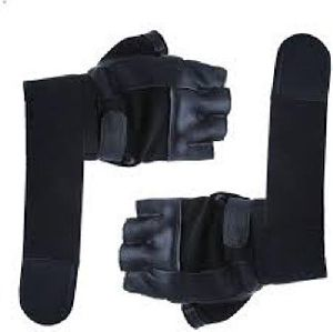 Leather Gym Gloves With Wrist Support