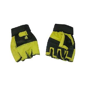 Leather Gym Hand Gloves