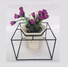 Decorative White Ceramic Flower Pot