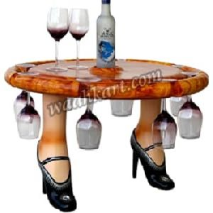 Table With Glass Holder