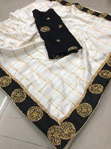 Bollywood Designer Panetar Silk Saree With Extra Blouse