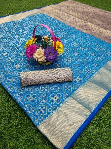 Patola Silk Stylish Designer Weaving Jequard Saree With Extra Blouse