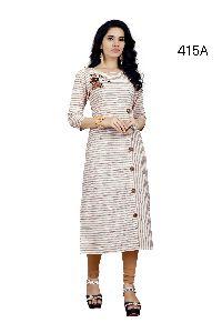 Stylish Designer A -line Tunic Cotton Peinted Fancy Kurti