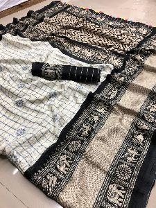 Jute Linen Silk Saree