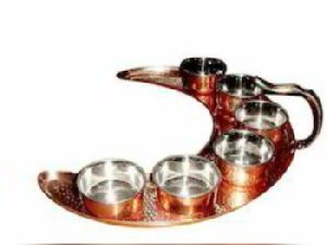 Stainless Steel Copper Thali Set