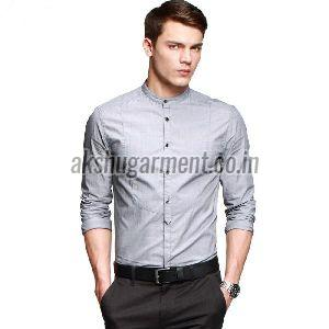 mens round collar shirt
