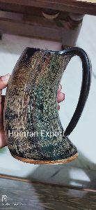 Natural skin horn mug