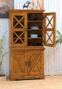 Solid Wood Crossia Kitchen Cabinet