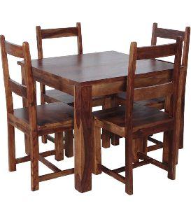 Sheesham Wood 4 Seater Dining Table Set