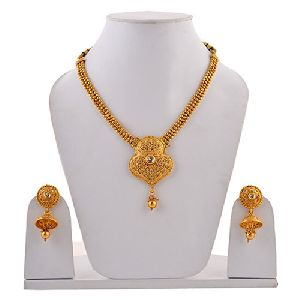 Jewelry & Watches Jewelry Sets Ambitious Traditional Kundan Choker Necklace Gold Finished Designer Statement Jewelry Sets