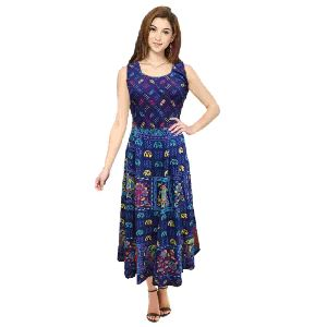 Rajasthani Printed Cotton Long Frock Kurti