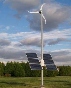 Wind Turbine Solar Power System