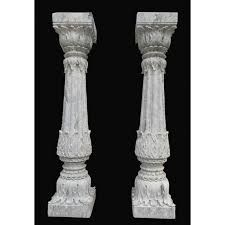 White Stone Carved Pillar