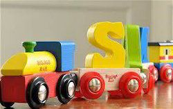 Wooden Alphabet Train