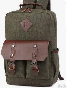 Leather Canvas Laptop Bag