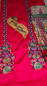 Ladies Unstitched Embroidered Suit