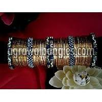 lac stones metal bangle