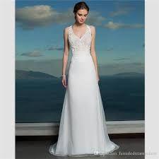 White Chiffon Bride Dress