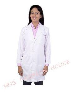 Ladies V Neck Full Sleeves Doctor Coat