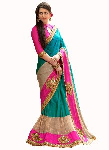 Designer Multi Colored Party Wear Saree