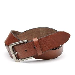 Mens Pure Leather Brown Belts