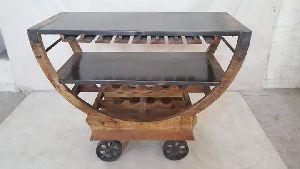 Solid Wood Bar Trolley