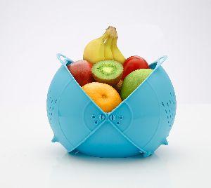Blue Plastic Fruit Basket