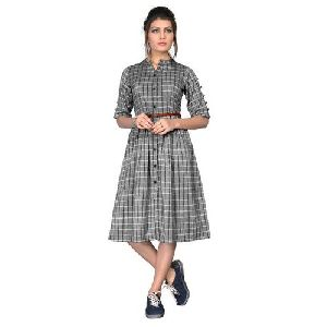 Ladies Checkered Dress