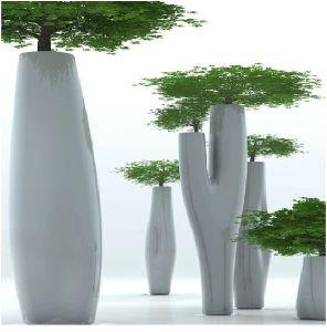 Tree Shaped Modern Large Frp Garden Flower Pot