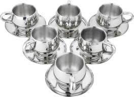 Silver Tea Cup Set