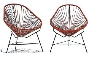 Leather Cord Acapulco Chair