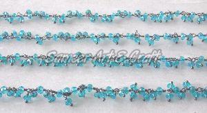 Blue Topaz Cluster Chain