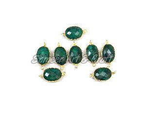 Emerald Gemstone Connector